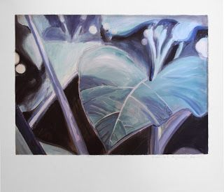 Botanik | Acryl auf Leinwand 70x60 | Nach einem Foto im Palmenhaus des Botanischen Gartens München