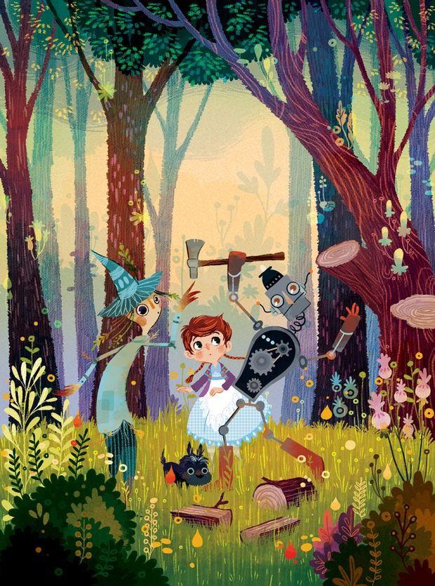 The Wonderful Wizard Of Oz by Lorena Alvarez Gómez - http://designyoutrust.com/2014/09/the-wonderful-wizard-of-oz-by-lorena-alvarez-gomez/