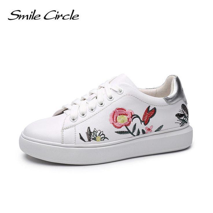 Bracelets de mode pour femmes Sports Running Sneakers Chaussures à fleurs en broderie rose Ms8fS7ZE
