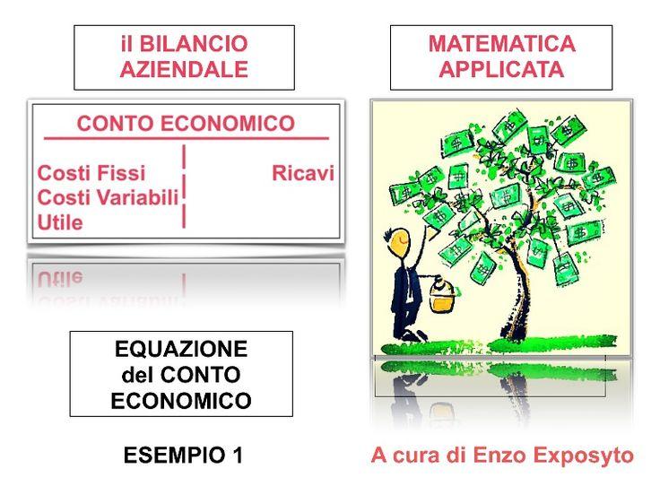 Il BILANCIO AZIENDALE in FORMULE - EQUAZIONE del CONTO ECONOMICO - ES…