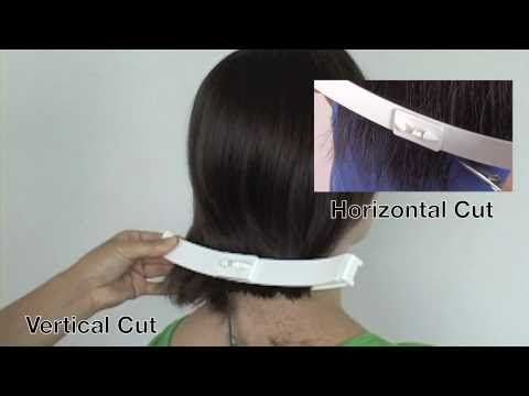 http://creaclip.com $29.99 for two sizes. How to cut a bob haircut in 5 mins at home. How to cut side bangs. Cut your own shoulder length bob hairstyle. Make...