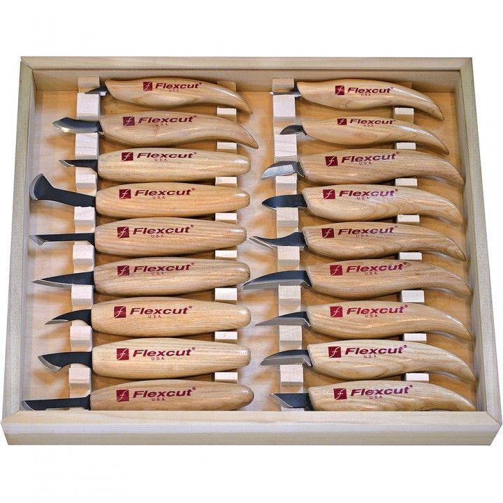 Flexcut® 18-Piece Carving Knife Set