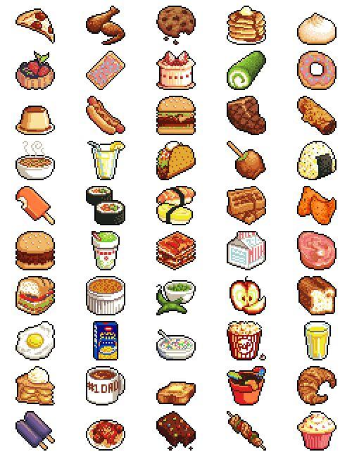 pixel art food