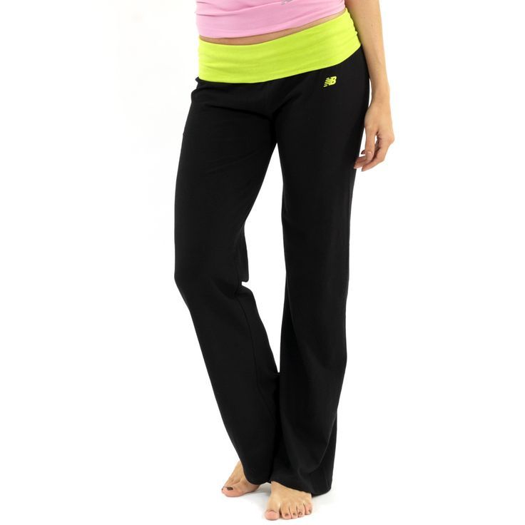 New Balance Fold Over Lounge Pants – Black/Lime