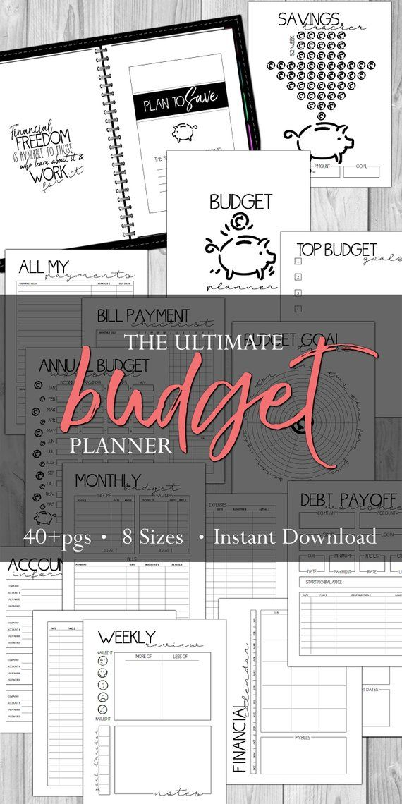 new and improved 12 month budget planner tracking pages for monthly