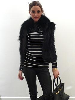 Olivia Palermo. Stripes. #fashion