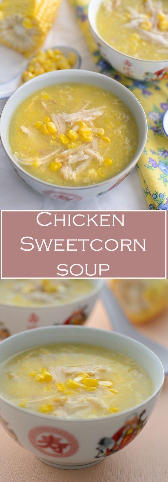 Creamy chicken corn soup