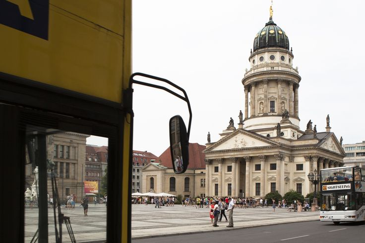 """Gendarmenmarkt is one of Berlin's most beautiful squares. It is dominated by three beautiful monumental buildings: the German Cathedral """"Deutscher Dom"""", the French Cathedral """"Französischer Dom"""" and the concert hall """"Konzerthaus"""". Yellow Tour - Stop no.7: Gendarmenmarkt"""