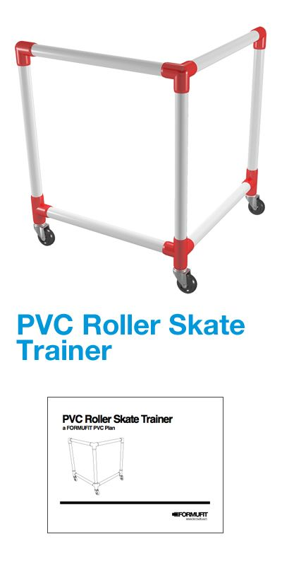 The PVC Roller Skate Trainer is a rolling bar that provides support as the kids move about the skating rink, driveway or cul-de-sac, without the fear of falling or getting hurt.