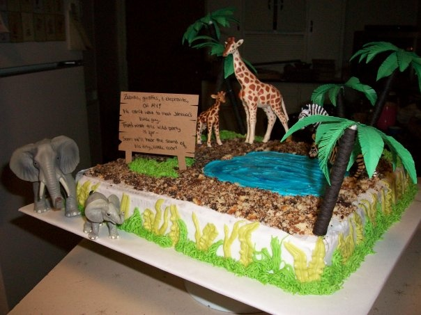 Baby Shower Cake Decorations Sainsburys : Safari Baby Shower Cake Sonny Side Up (My Blog ...