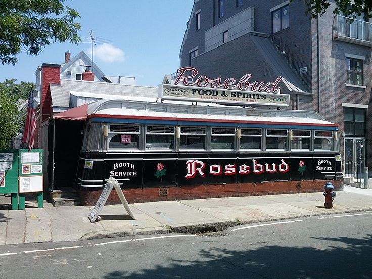 The Rosebud is a historic diner at 381 Summer Street in