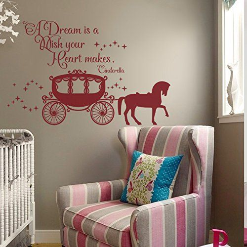 Beautiful wall decal cinderella saying quote vinyl wall for Jugendzimmer cinderella