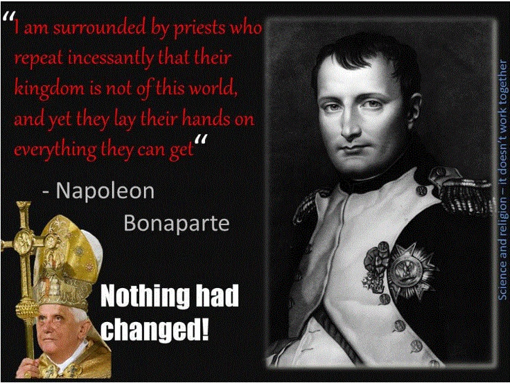 napoleon and freedom of religion The caption of the picture translates: signature of the concordat between the french government and his holiness pius vii for the re-establishment of the catholic religion in france on the left is cardinal ercole consalvi, papal.