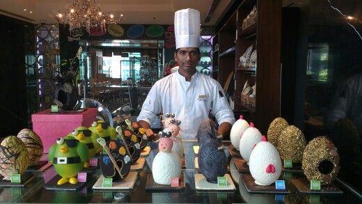 EASTER EGGS# display#at#sofitel#mumbai# bkc