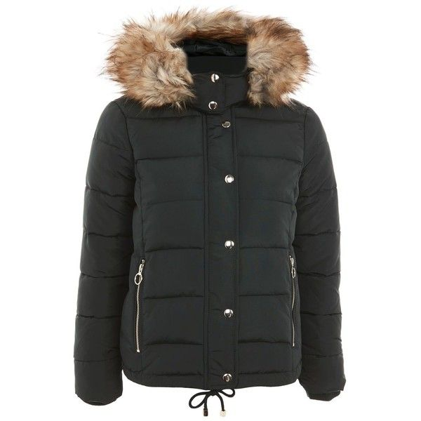 TopShop Quilted Puffer Jacket (250 BRL) ❤ liked on Polyvore featuring outerwear, jackets, forest, puffer jacket, puffy jacket, quilted puffer jacket, quilted jacket and topshop jackets