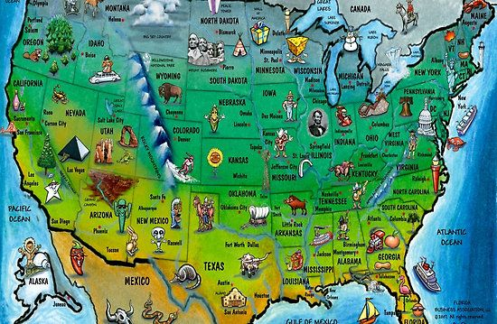 Us Map Kids Printable World Map Pinterest - Us and mexico map for kids