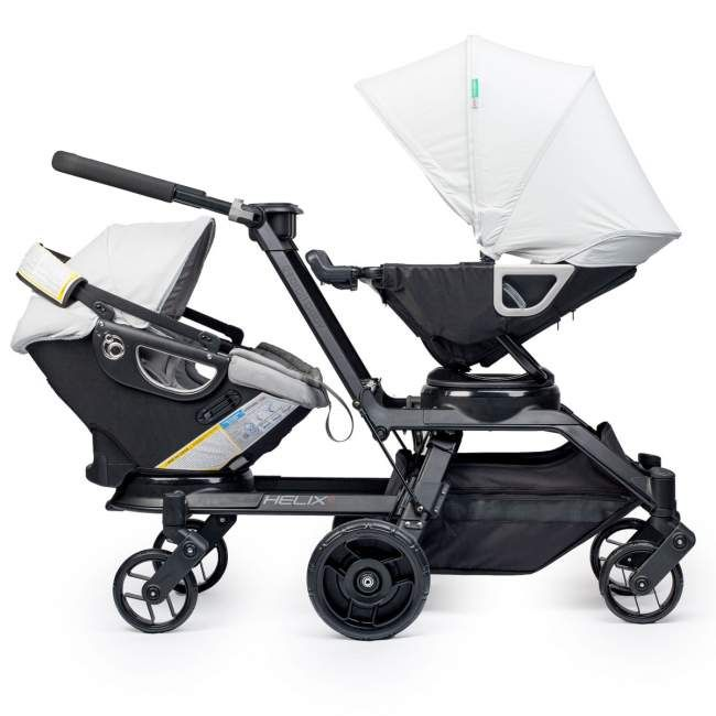 Orbit Baby Double Helix Stroller:: easily transforms from single to double and back again. Now available for pre-order!