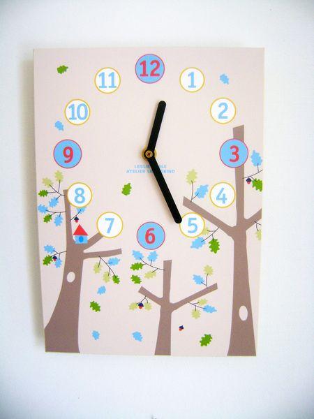 Wanduhr/Kinderzimmer+Uhr+*Bäume*+von+LeVeale+auf+DaWanda.com
