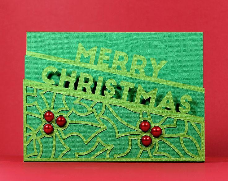 Merry Christmas Edge Card - Free SVG |