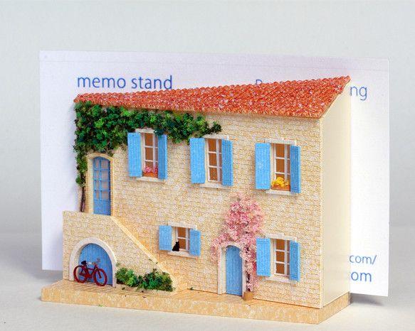 カードスタンド南仏Provenceの春をイメージしています。名刺、メモなどを立てることができます。メッセージカードを添えて、プレゼントにも。W=70mm H=...|ハンドメイド、手作り、手仕事品の通販・販売・購入ならCreema。