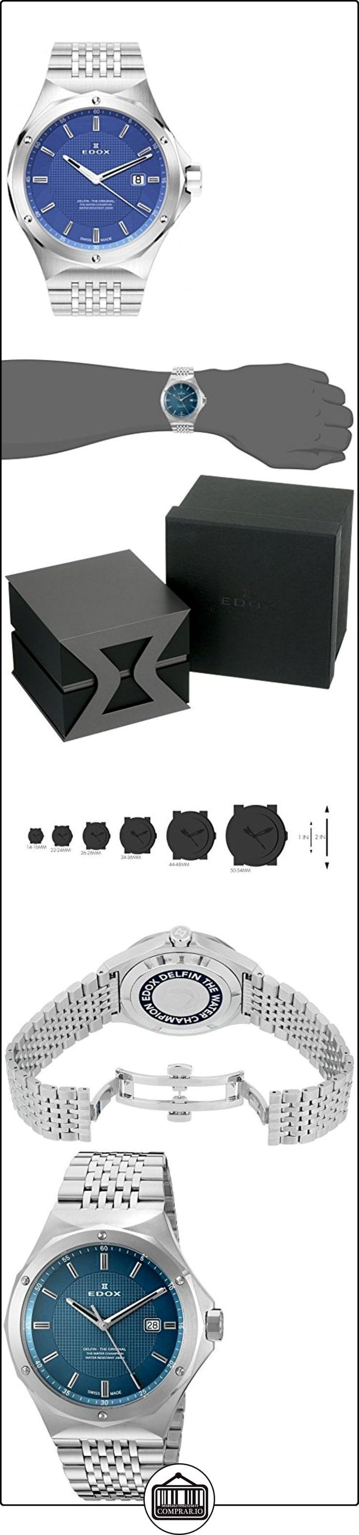 EDOX hombre 53005-3M BUIN Delfin Analógica Swiss plateado de cuarzo reloj  ✿ Relojes para hombre - (Lujo) ✿ ▬► Ver oferta: http://comprar.io/goto/B00ZIODTWO