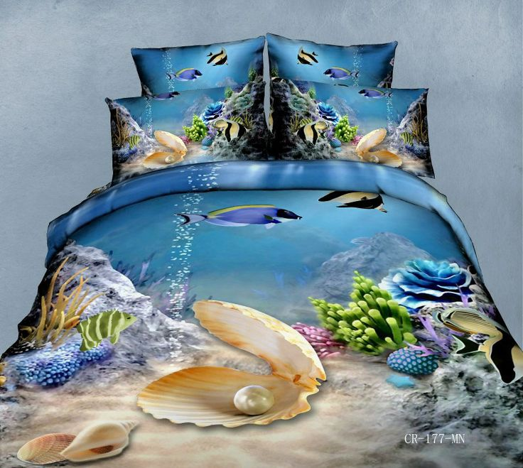 17 best images about ocean bed bedding on pinterest for Fish bedding twin