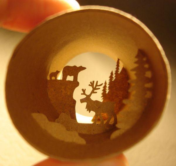 Paper Rolls Miniature Sculptures by Anastassia Elias