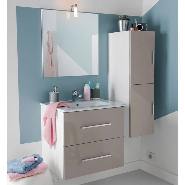 Salle de bain pinterest taupe for Decoration murale castorama