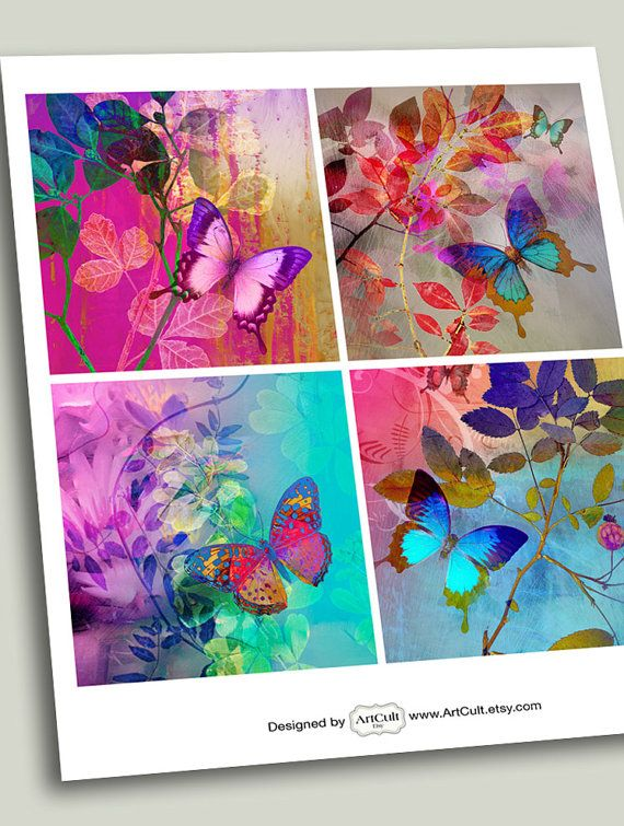ArtCult Printable Images are great for your art and craft projects.  This is a digital product. You can print these images as many times as you need.  INSTANT DOWNLOAD! The files are available once payment is confirmed. An email with the download link will be sent to you . You will be able to access and download the files from your Purchases page. ITEM DESCRIPTION: Four 3.8x3.8 inch size images , one page. Fits standard paper size 8.5x11 inch / A4 High resolution 300dpi.  DISCOUNT COUPO...