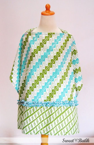 Nursing apron by Sweet Batik Indonesia.