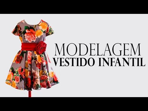 COSTURA- VESTIDO GODÊ INFANTIL COM MANGA EMBUTIDA - YouTube