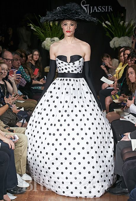 Black White Wedding Dresses 12