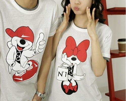Mickey And Minnie Couples Shirts more mickey and...