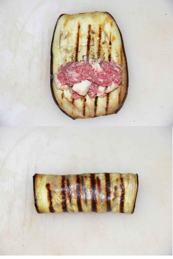 Melanzana avvolta per ricetta involtini di melanzane