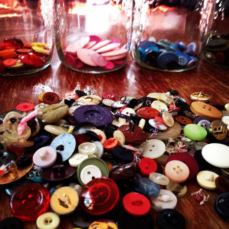 Sorting through generations of buttons, love finding the unusual amongst the ordinary.