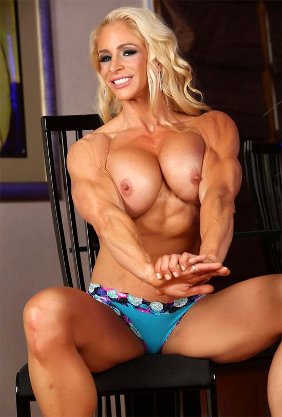 Strong muscle woman blowjob think