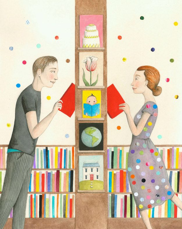 """""""Polka Dots in the Strand"""" print by Sophie Blackall 