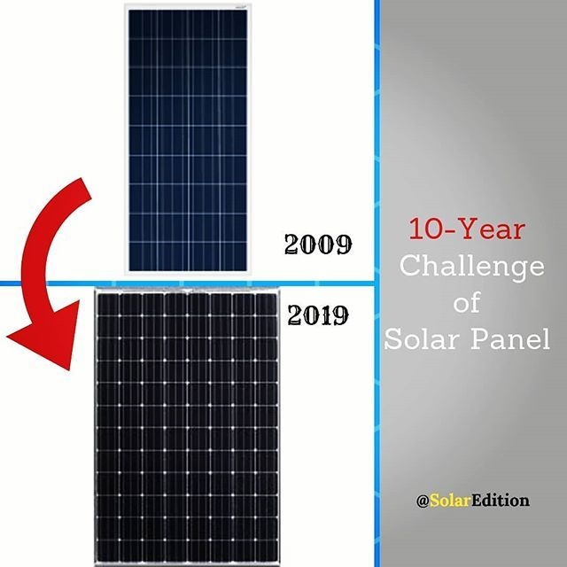 10 Year Challenge Of Solar Panel 2009 The Efficiency Of A Solar Panel Below 15 The Number Of Solar Cells In A Solar Panel 48 60 The Number Of Busbars