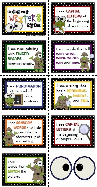 Art Using Writers Eyes - very cute strategy for Writers Workshop ela