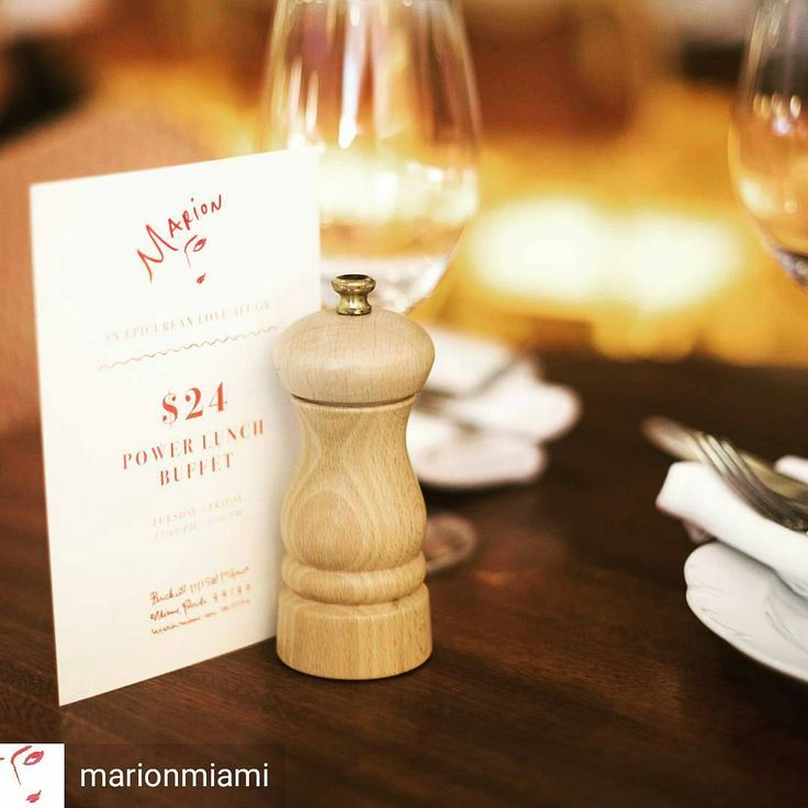 Spotted Peugeot mills @marionmiami #peugeotmills #clermont #peppermill #hospitality #foodservice #miami #florida #wood #madeinfrance #peugeotsaveurs