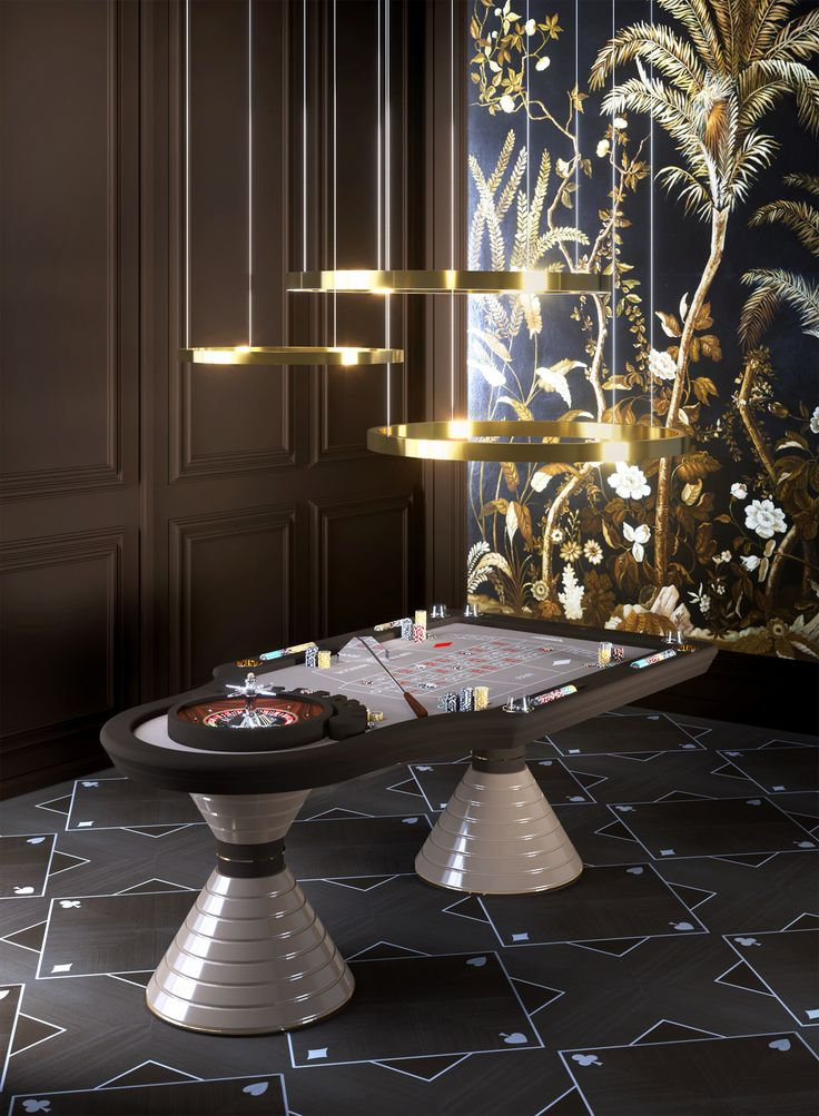 Vismara Design Roulette Table is a sophisticated furniture piece perfect to furnish private club, luxury homes and exclusive hotel.