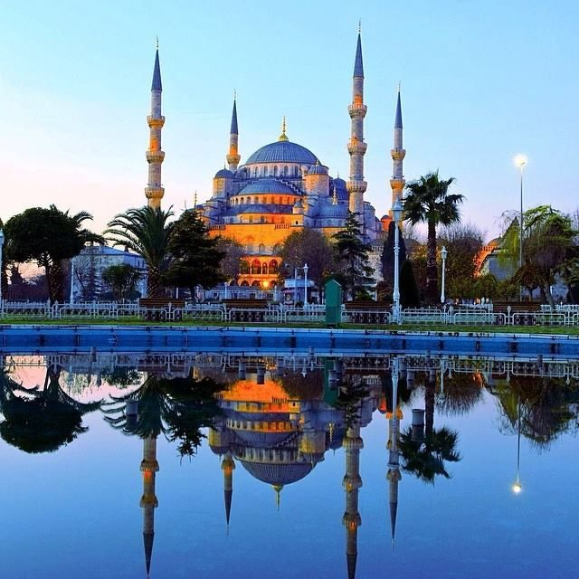 Istanbul's Sultanahmet Mosque, also known as the Blue Mosque, built in the 17th century. Photo courtesy of mambee05 on Instagram.