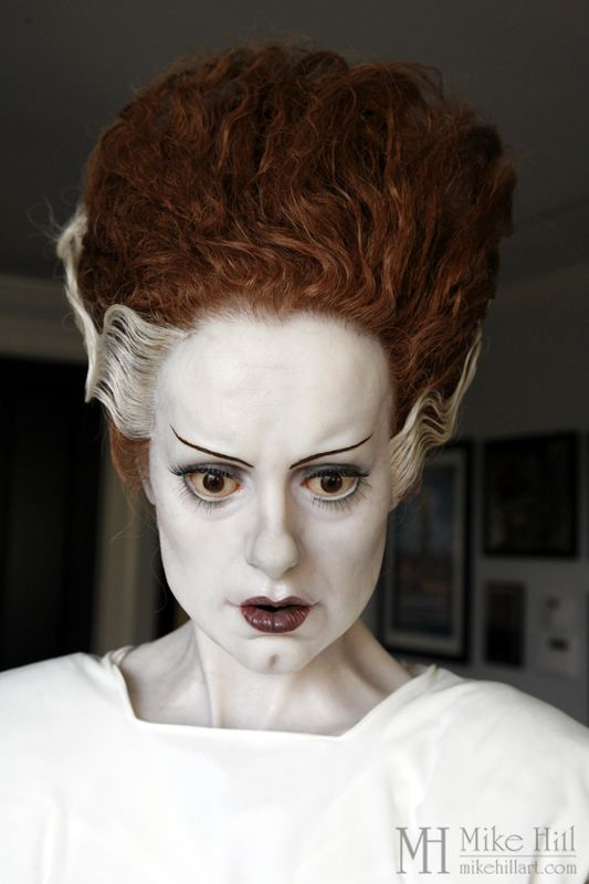 "Elsa Lancaster as the Bride in 1935's, ""Bride of Frankenstein"" SCULPTURE by Mike Hill: Maker of Monster, Myth, & Men."