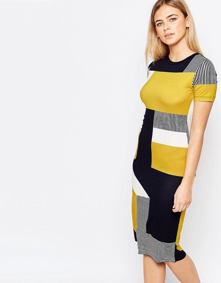 Oasis | Oasis Bold Color Block T-Shirt Dress at ASOS