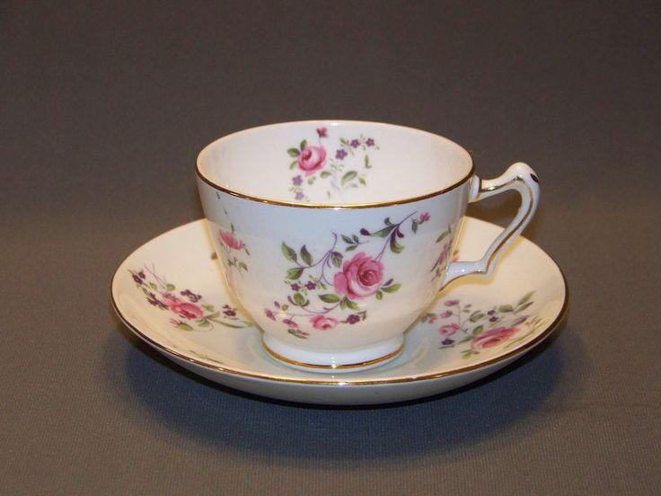 English tea cup and saucer pink rose fine bone china Staffordshire England | Antiques, Decorative Arts, Ceramics & Porcelain | eBay!