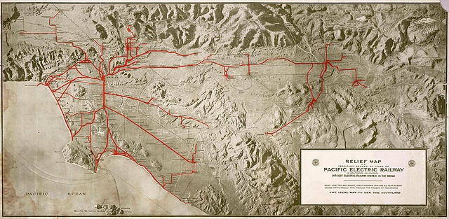 Los Angeles, 1920   Pacific Electric Railways - Map
