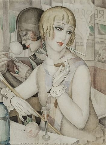 Gerda Wegener, The Aperitif 1928 water colour