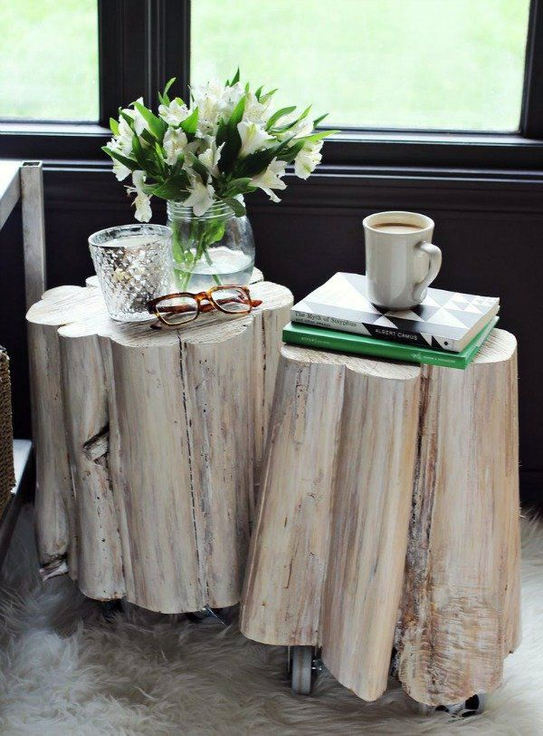 tree trunk side tables tree trunk furniture and interior features bring nature home