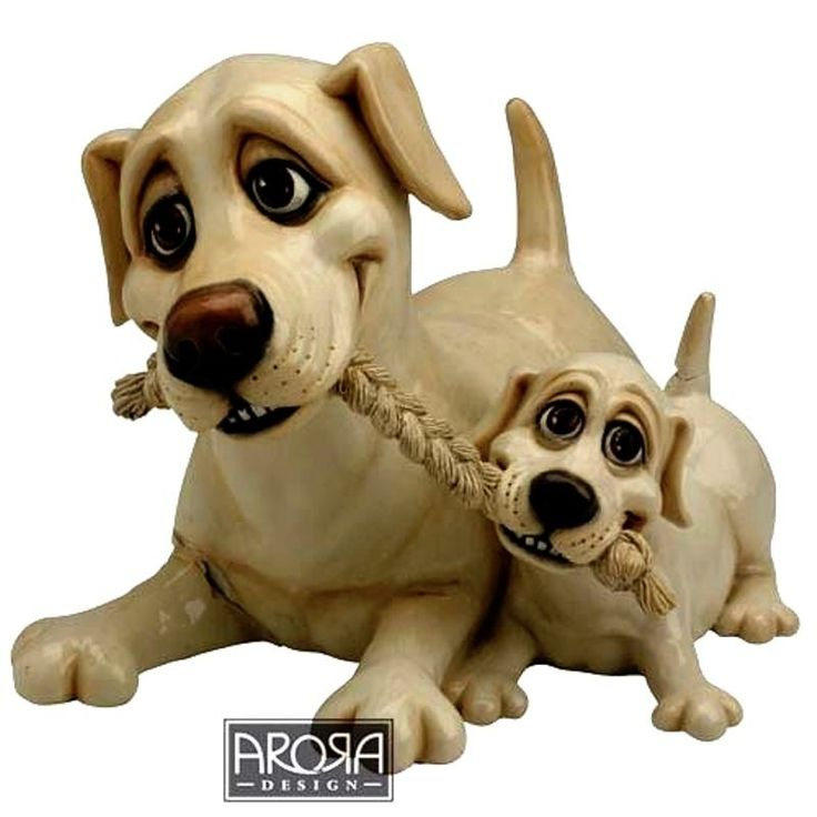 Pets With Personality - Yellow Labrador & Pup Available @ Li'l Treasures $68. (International Shipping available)