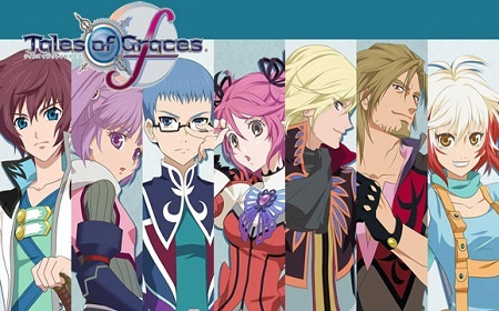 Asbel, Sophie, Hubert, Cheria, Richard, Malik, and Pascal from Tales of Graces F.